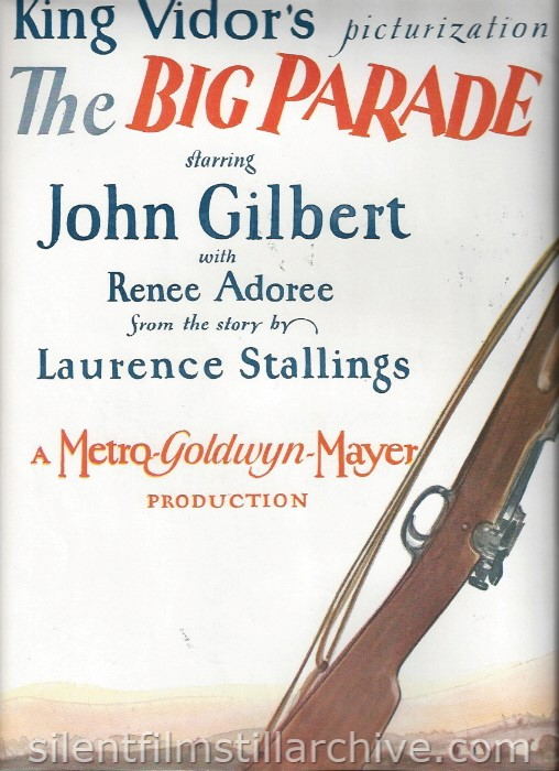 Program for THE BIG PARADE (1925)