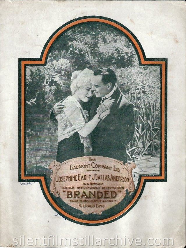 Branded (1920) pressbook with Josephine Earle and Dallas Anderson