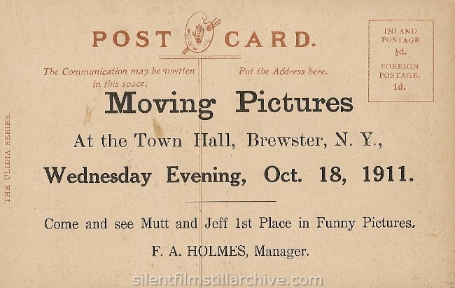 Brewster, NY Town Hall postcard, 1911