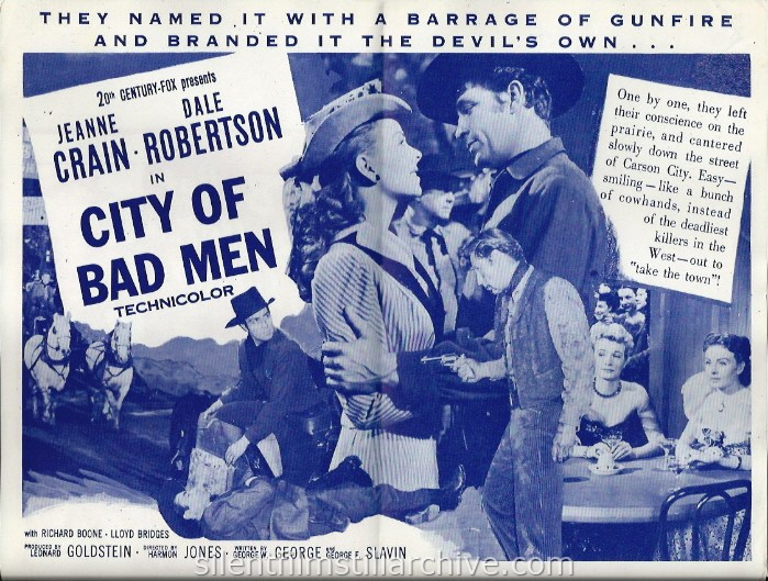 Herald for CITY OF BAD MEN (1953) with Jeanne Crain and Dale Robertson