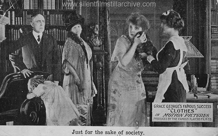 Postcard for CLOTHES (1914) with Charlotte Ives