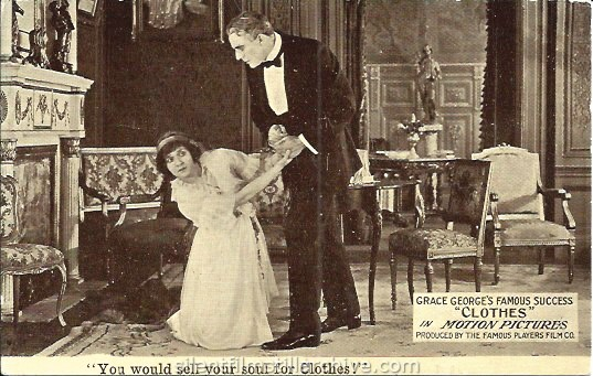 Postcard for CLOTHES (1914) with Charlotte Ives and House Peters.