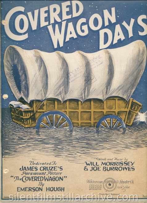 Covered Wagon Days sheet music