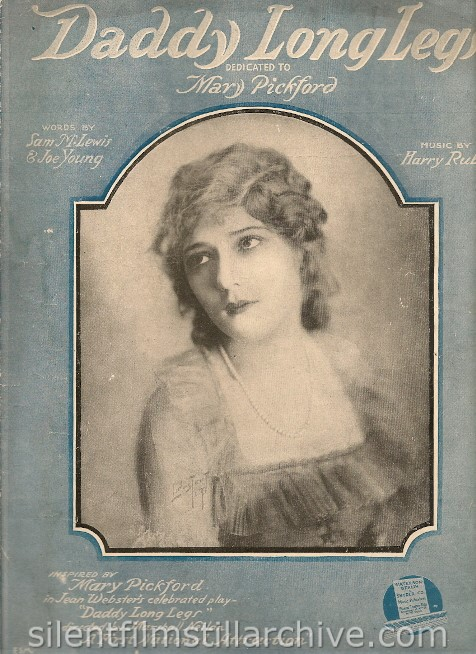 Mary Pickford DADDY-LONG-LEGS (1919) sheet music