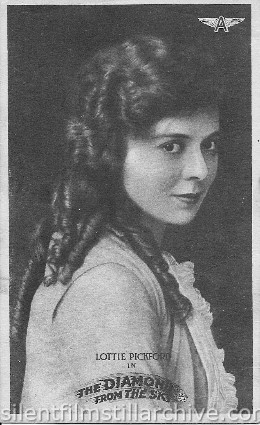 Lottie Pickford in THE DIAMOND IN THE SKY (1915) postcard
