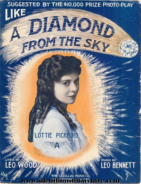 Lottie Pickford in THE DIAMOND IN THE SKY (1915) sheet music