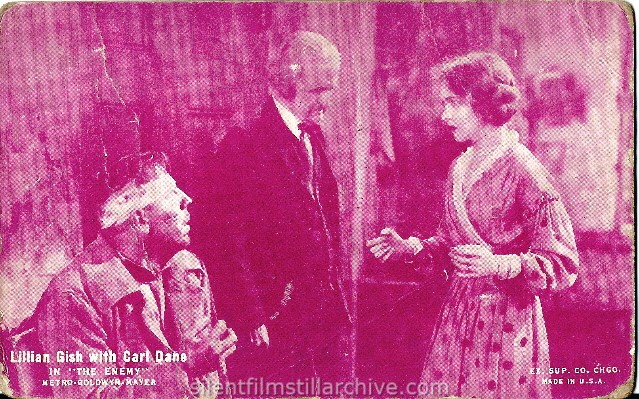 Karl Dane, Frank Currier and Lillian Gish in THE ENEMY (1927)