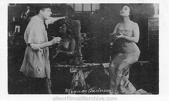 Mignon Anderson in EVEN AS YOU AND I (1917) advertising card