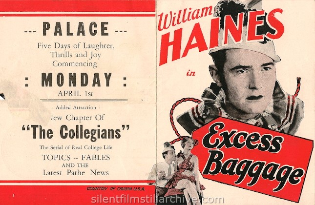 William Haines in EXCESS BAGGAGE (1928)