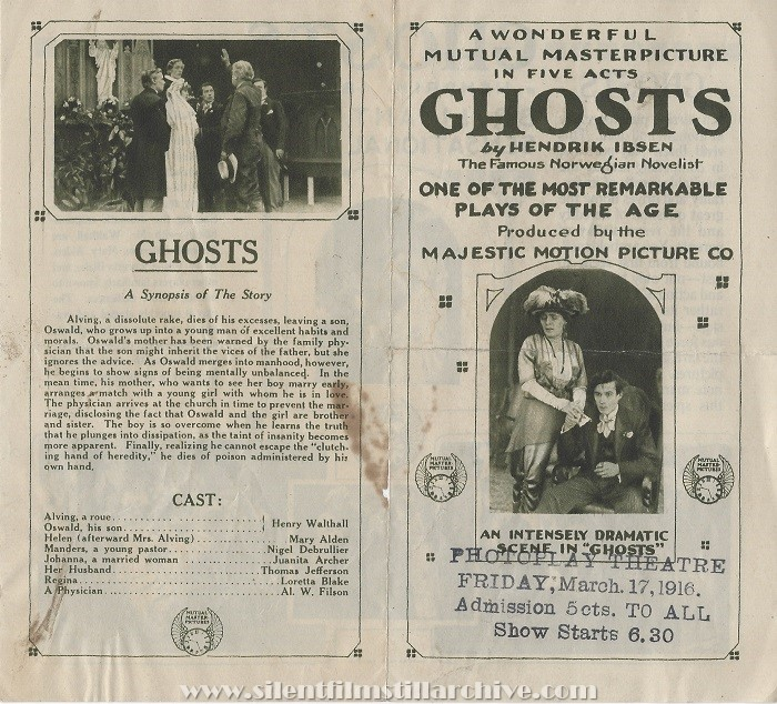 Advertising herald for GHOSTS (1915)