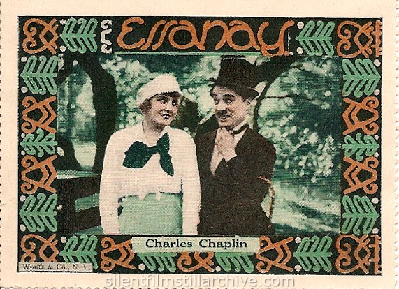 Essanay IN THE PARK (1915) stamp with Charlie Chaplin