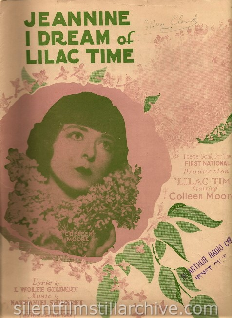 LILAC TIME sheet music with Colleen Moore