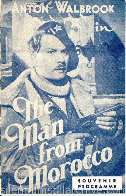 Program for THE MAN FROM MOROCCO (1945) with Anton Walbrook