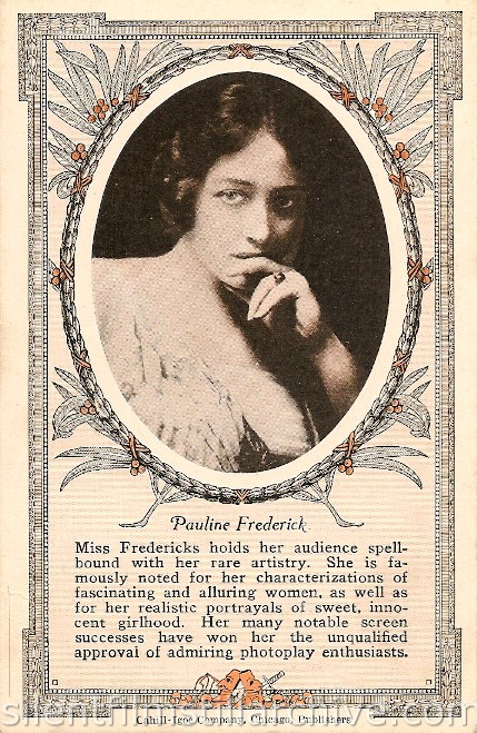 Pauline Frederick collector card