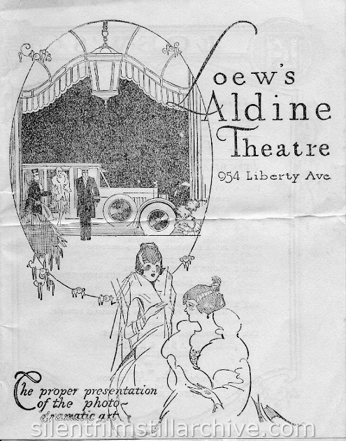 Loew's Aldine Theatre program, Pittsburgh, Pennsylvania, USA