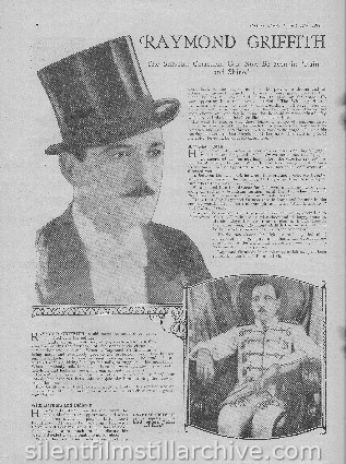 Raymond Griffith article from Picture Show magazine