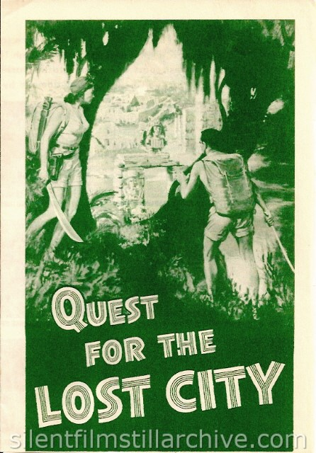 Advertising herald for QUEST OF THE LOST CITY (1954) with Dana Lamb and Ginger Lamb.