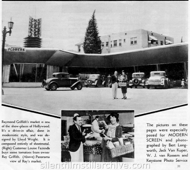 Raymond Griffith's grocery market in Hollywood.