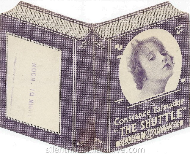 Herald for THE SHUTTLE (1918) with Constance Talmadge.