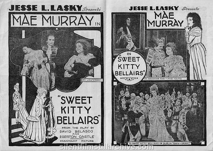 Theater herald for SWEET KITTY BELLAIRS (1916) with Mae Murray.