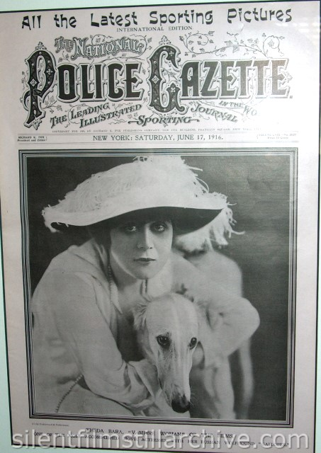 National Police Gazette magazine cover with Theda Bara