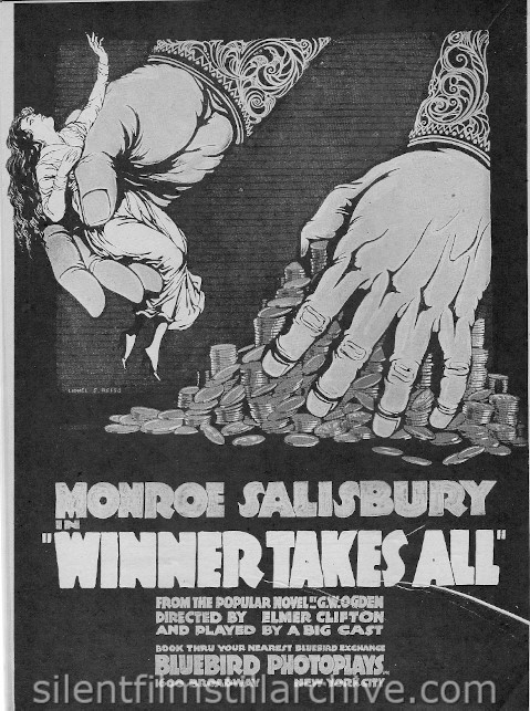 Moving Picture Weekly ad for WINNER TAKES ALL (1918)