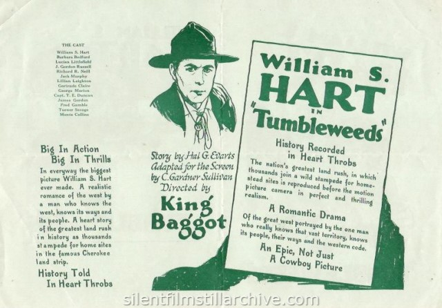 William S. Hart in TUMBLEWEEDS (1925)