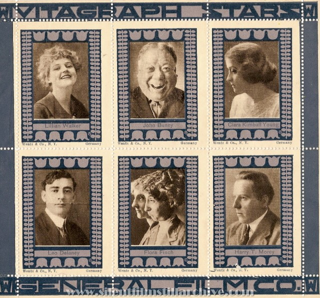 Vitagraph film performer stamps