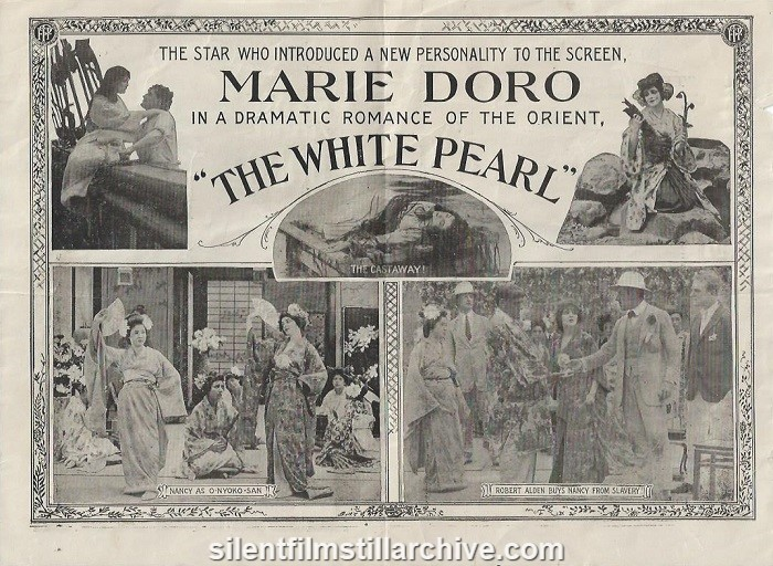 Herald for THE WHITE PEARL (1915) with Marie Doro