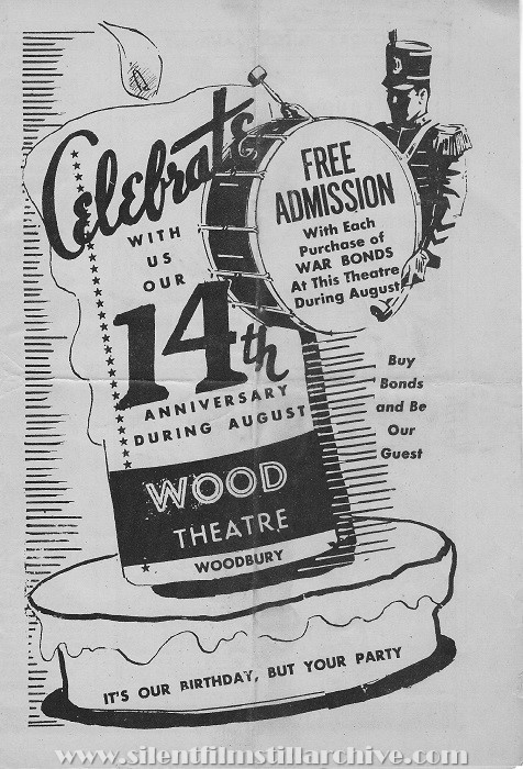 Wood Theatre program, Woodbury, New Jersey, August 6, 1945