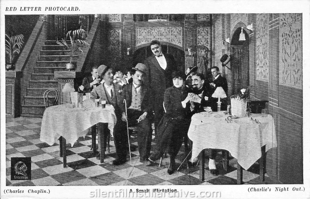 A NIGHT OUT (1915) with Ben Turpin, Charlie Chaplin, Bud Jamison and Leo White