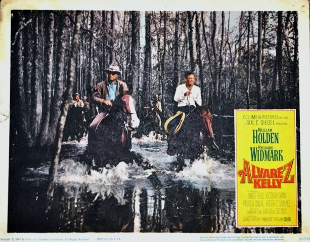 Lobby Card for ALVAREZ KELLY (1966) with William Holden and Richard Widmark