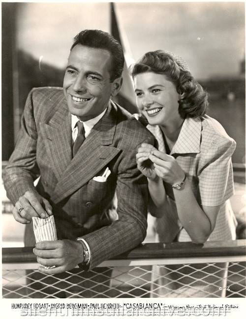 Humphrey Bogart and Ingrid Bergman in CASABLANCA (1942)