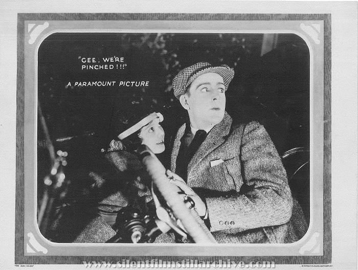 Lobby card for THE CHARM SCHOOL (1921) with Lila Lee, Wallace Reid