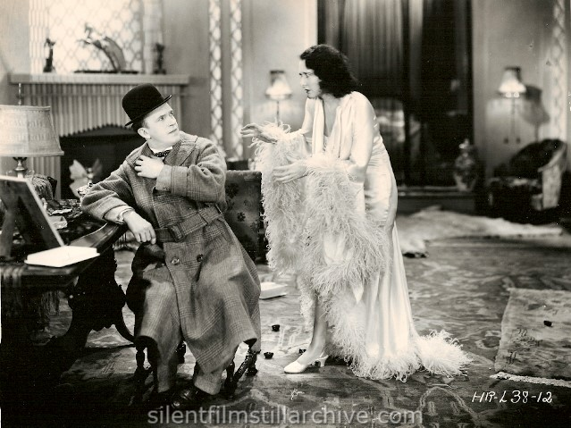 Stan Laurel and Mae Busch in CHICKENS COME HOME (1931)
