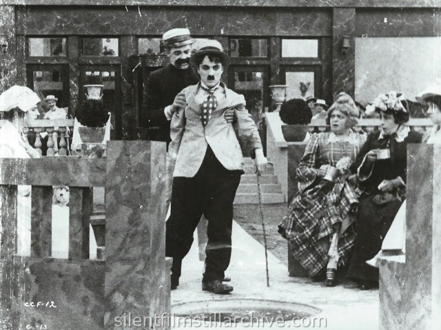 Albert Austin and Charlie Chaplin in THE CURE (1917).