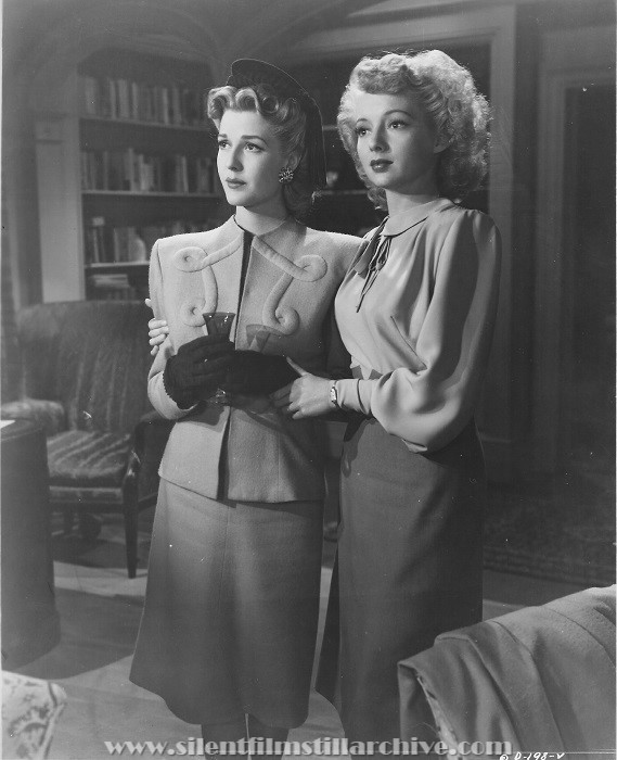 Anita Louise and Evelyn Keyes in DANGEROUS BLONDES (1943).