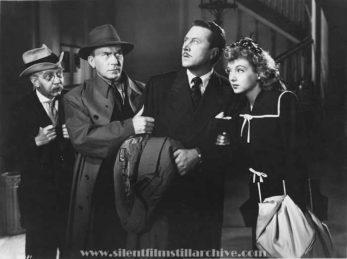 Hobart Cavanaugh, William Demarest, Allyn Joslyn and Evelyn Keyes in DANGEROUS BLONDES (1943)