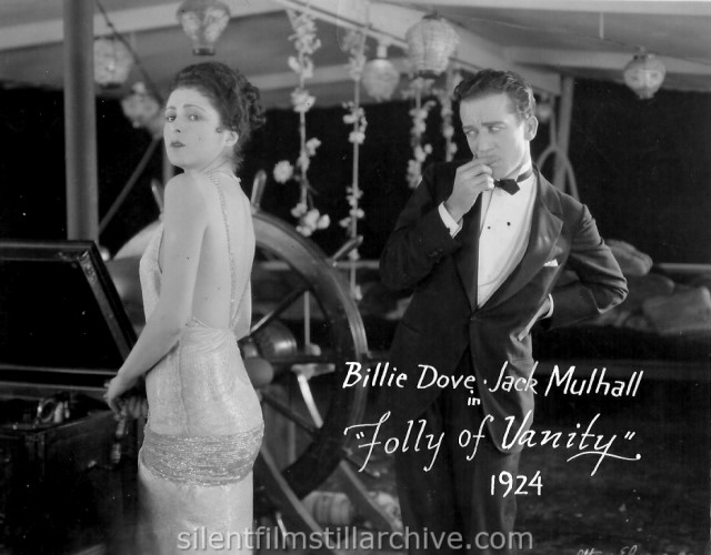 Billie Dove and Jack Mulhall in FOLLY OF VANITY (1924)