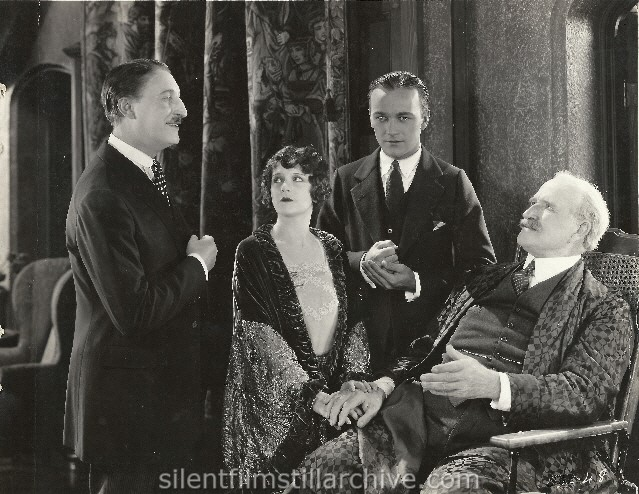 Cyril Chadwick, William Boyd, Viola Dana and Theodore Roberts in FORTY WINKS (1925).