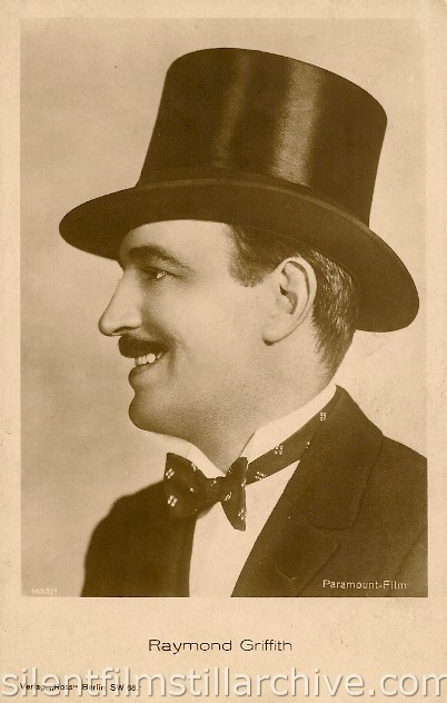"Verlag ""Ross"" Raymond Griffith postcard"