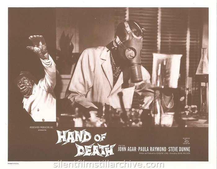 Lobby card with John Agar in HAND OF DEATH (1962)