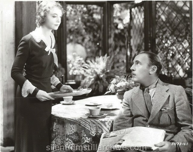 Lillian Gish and Roland Young in HIS DOUBLE LIFE (1933).