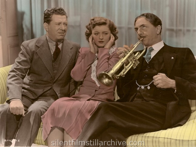 Frank McHugh, Myrna Loy and William Powell in I LOVE YOU AGAIN (1940).