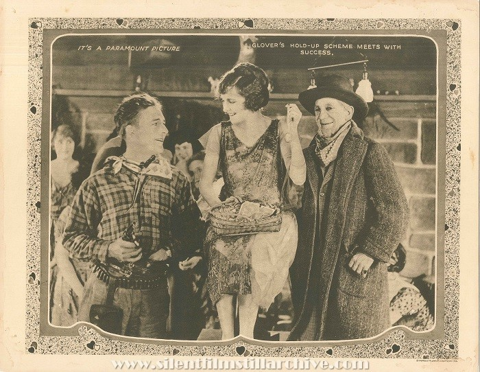 Lobby Card for THE LOVE SPECIAL (1921) with Wallace Reid, Agnes Ayres, and Snitz Edwards
