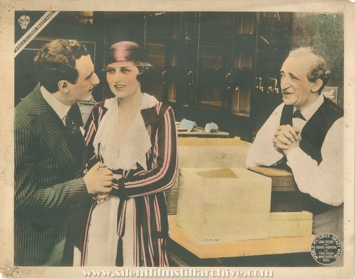Lobby Card for THE MAN WHO STOOD STILL (1916) with Harry Frazer, Doris Kenyon, and Lew Fields