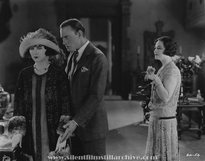 Mae Busch, Conrad Nagel, and Pauline Frederick in MARRIED FLIRTS (1924).