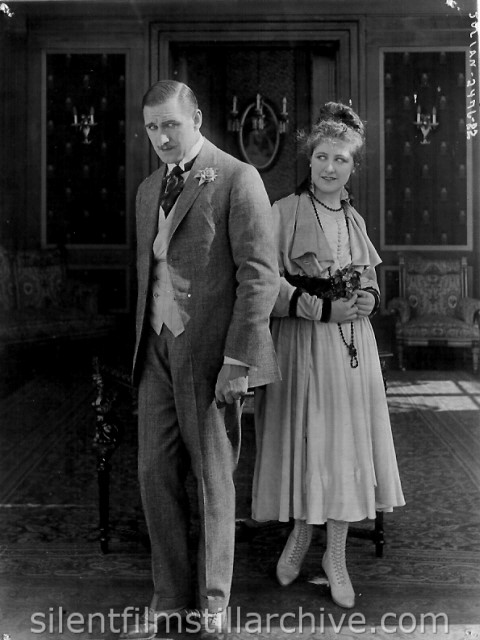 Rupert Julian and Ruth Clifford in MOTHER O' MINE (1917)