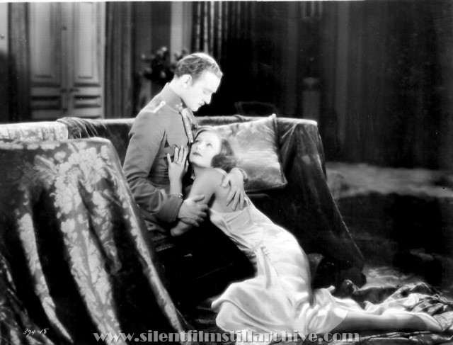 Conrad Nagel and Great Garbo in THE MYSTERIOUS LADY (1927)