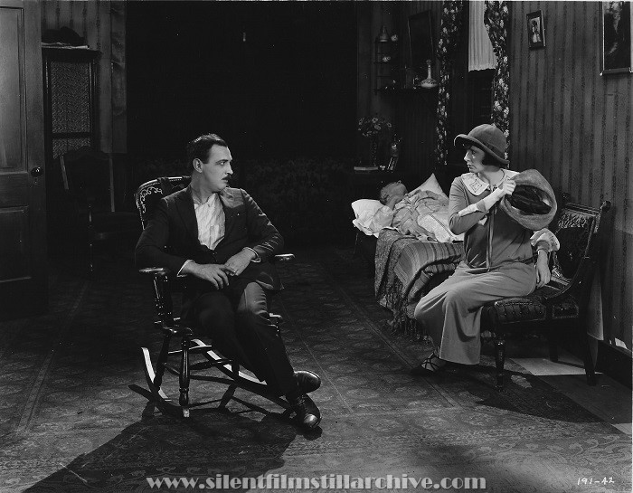 Raymond Griffith, Hobart Bosworth and Mae Busch in NELLIE THE BEAUTIFUL CLOAK MODEL (1924)